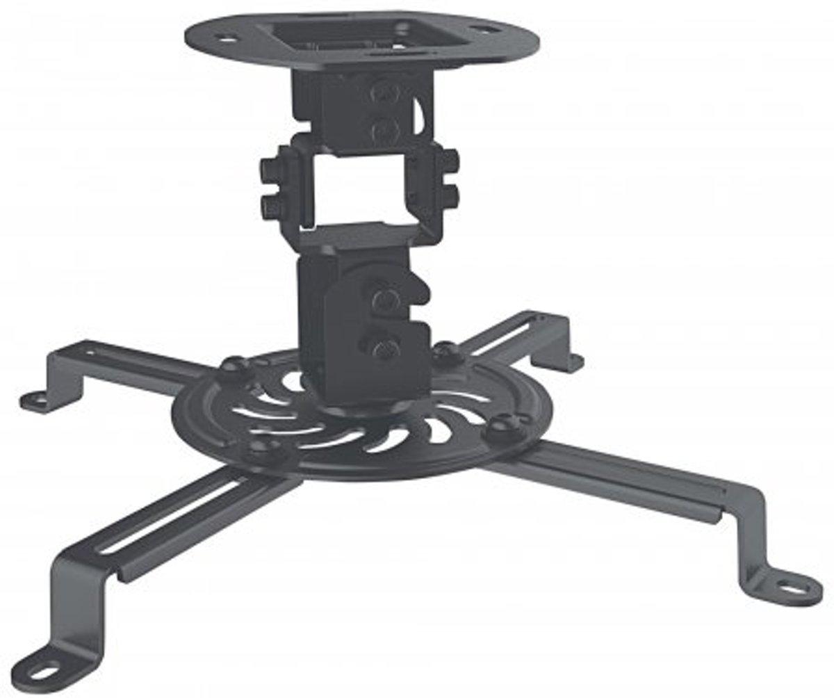 Manhattan Beamer-plafondbeugel Kantelbaar en zwenkbaar Afstand vloer-plafond (max.): 15 cm Zwart