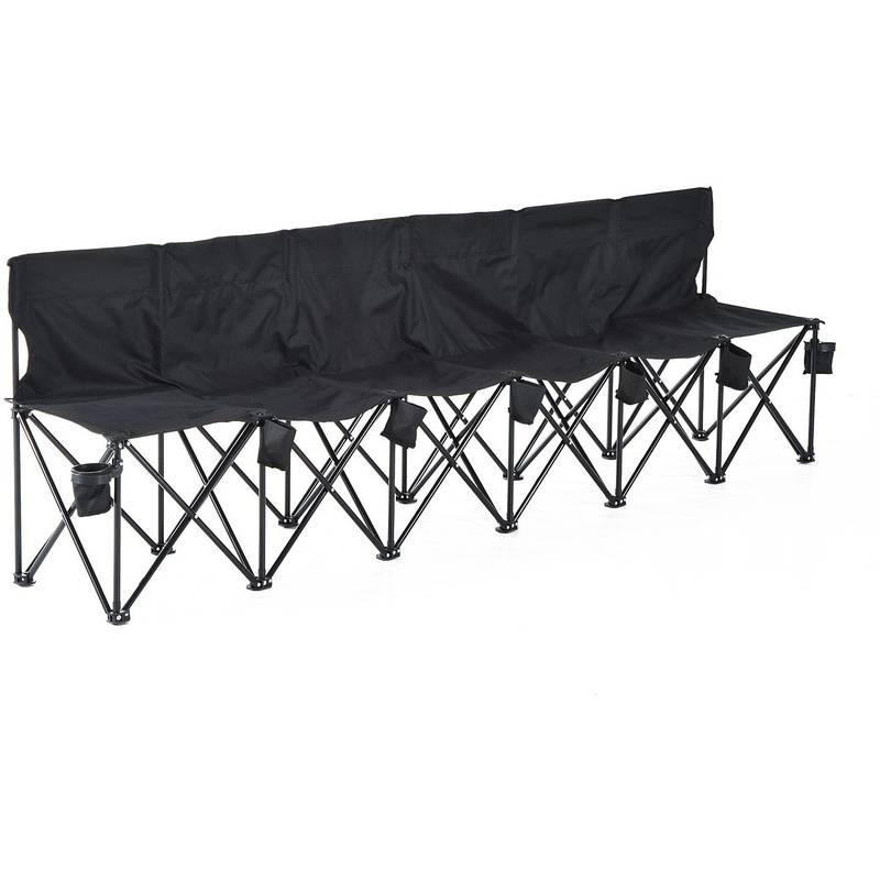 Outsunny Campingbank 6-zits met draagtas 279 x 48 x 80