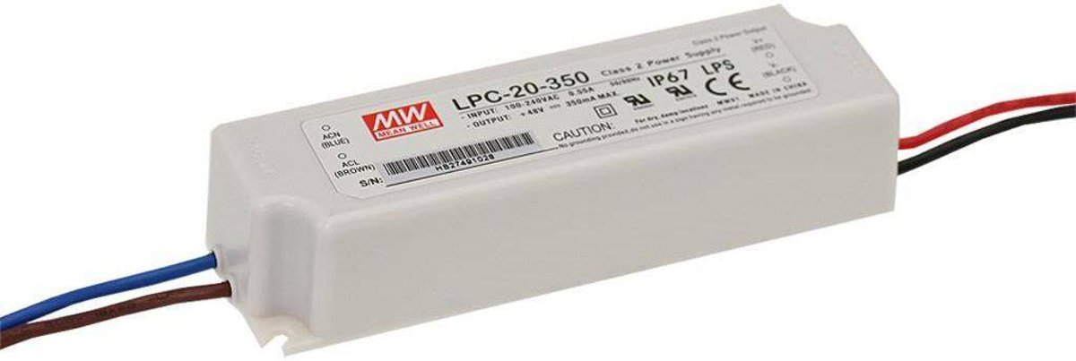 Mean Well LED-driver LED-schakelnetvoeding LPC-20-700