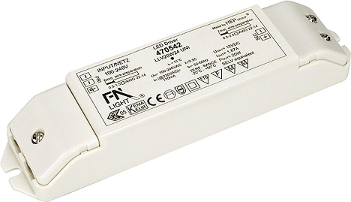 SLV LED-driver Netvoeding voor LED-strips 20 W, 24 V 470542