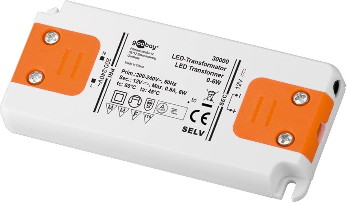 Goobay Set 12-06 LED slim LED-netvoeding 6 W 12 V/DC 500 mA