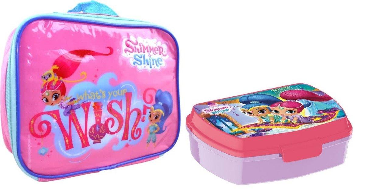SHIMMER & SHINE Lunch Tas & Broodtrommel School Set