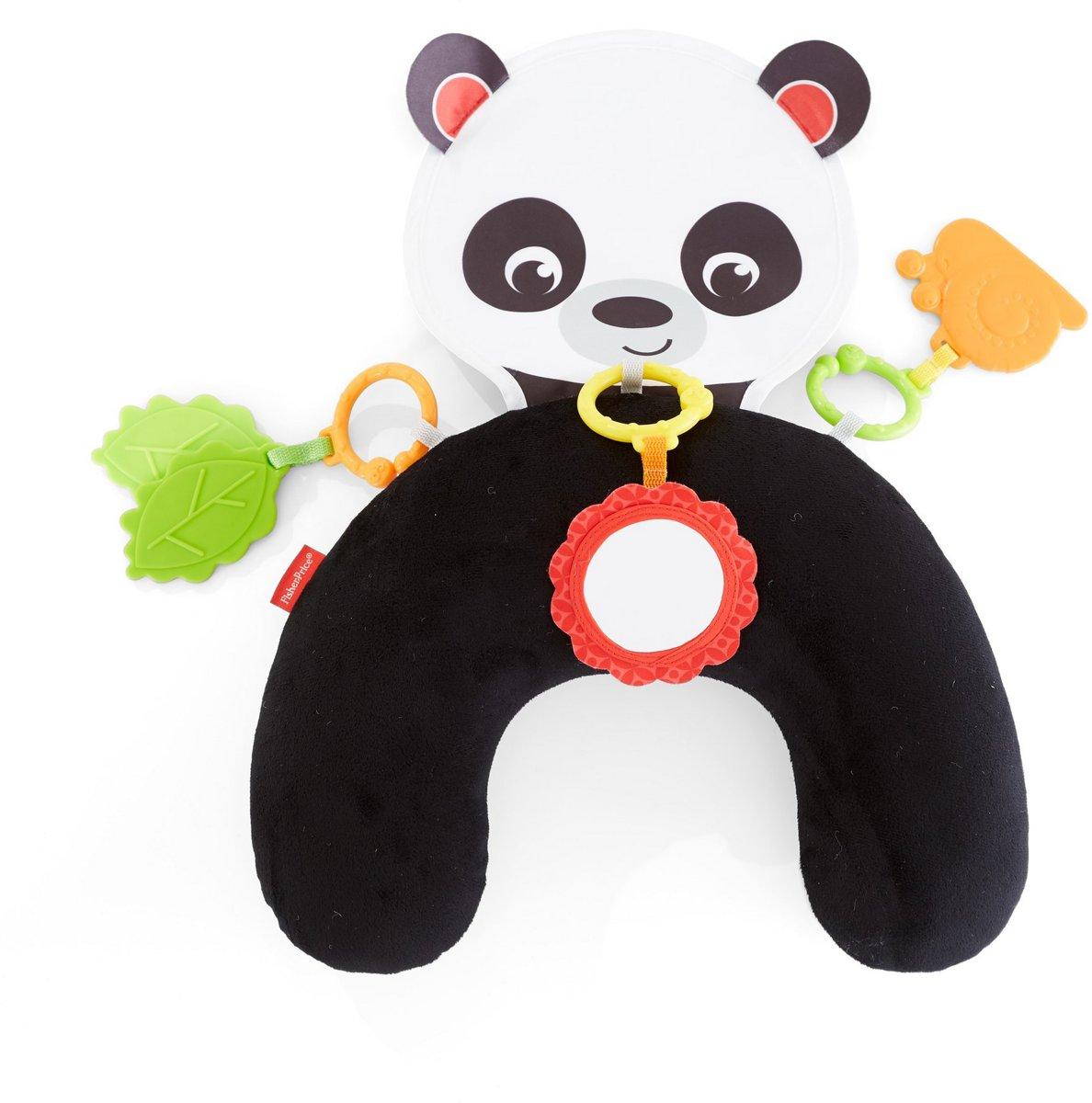 Fisher-Price Panda knuffel en speel buikkussen