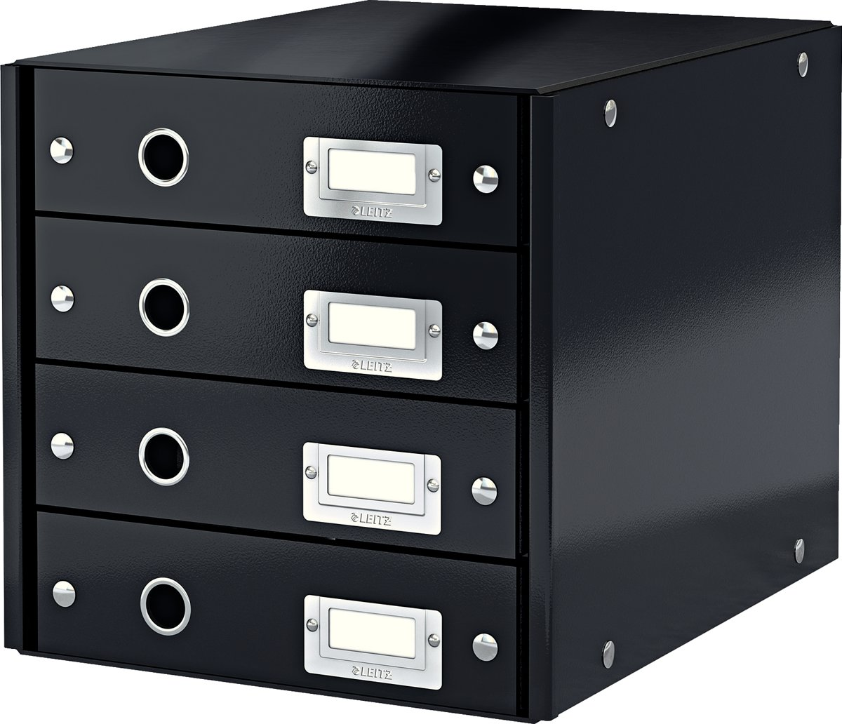 Leitz 6049-00-95 Zwart DIN A4 Aantal lades: 4