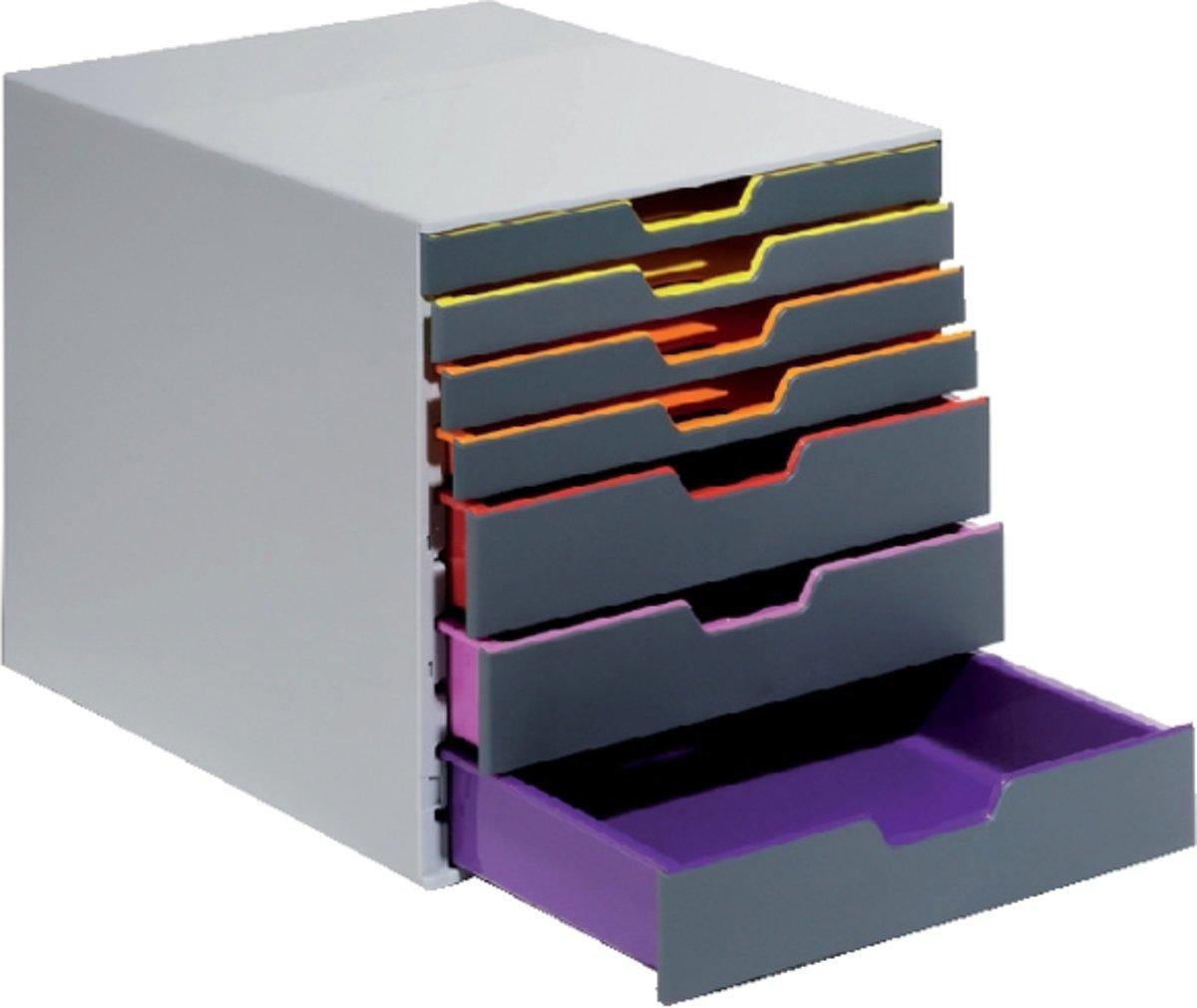 Durable Ladebox VARICOLOR 7 - 7607 760727 Grijs DIN A4, DIN C4, Folio, Letter Aantal lades: 7