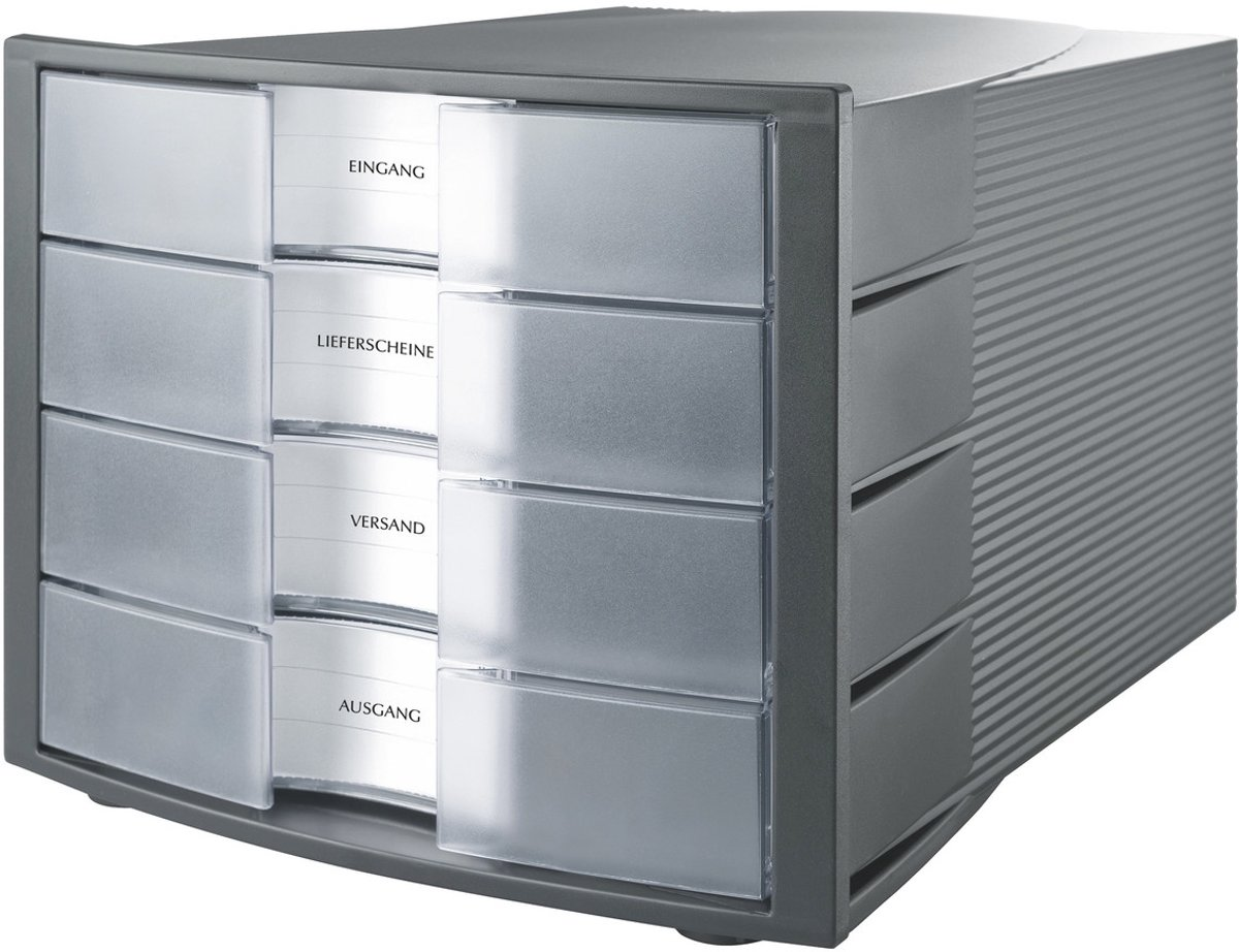 HAN Ladebox Impuls 1010-X-193 Donkergrijs DIN A4, DIN C4 Aantal lades: 4