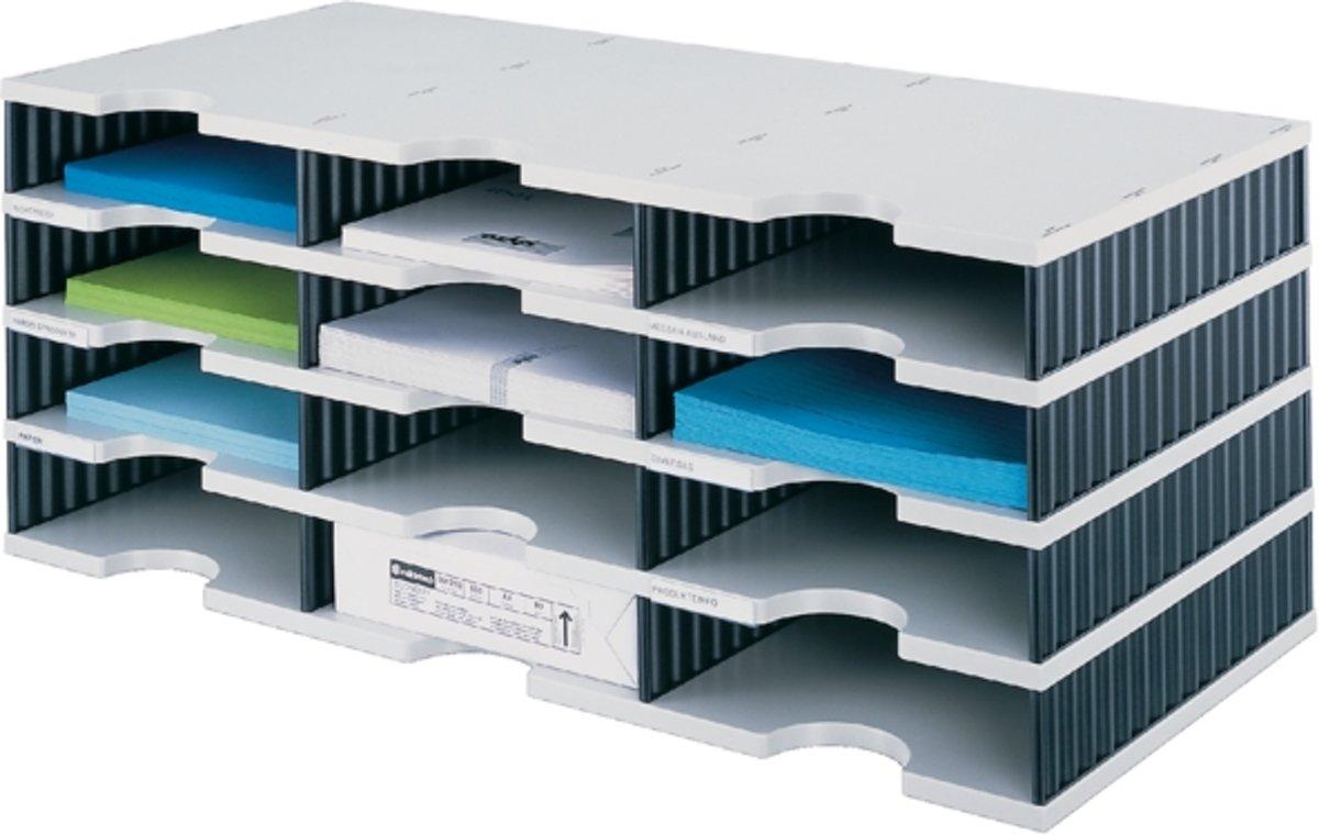 HAN Ladebox IMPULS 1011-X-11 Grijs DIN A4, DIN C4 Aantal lades: 4