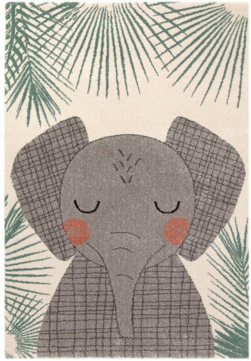 Vloerkleed Kinderkamer & Babykamer Big Elephant - Tapijt 120 x 170 cm
