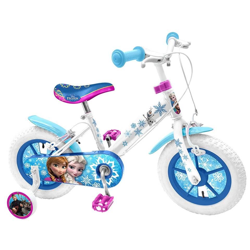 Disney Frozen 12 Inch 21,5 cm Meisjes V-Brake Wit/Blauw