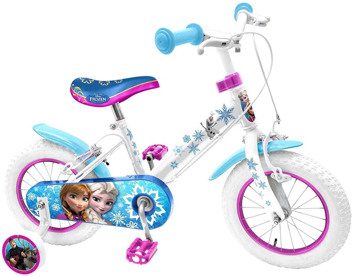 Disney Frozen 14 Inch 23,5 cm Meisjes V-Brake Wit/Blauw