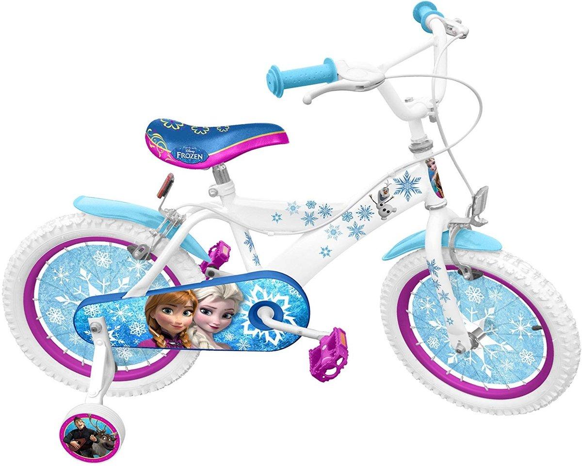 Disney Frozen 16 Inch 26 cm Meisjes V-Brake Wit/Blauw