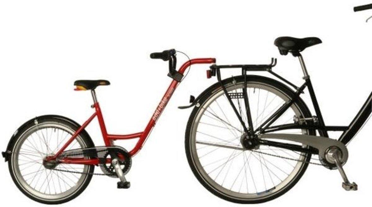 Roland aanhangfiets add+bike 20 inch junior 3v rood