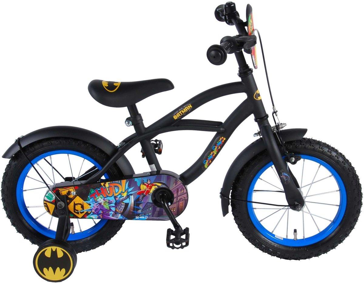 Volare Batman 14 Inch 23,5 cm Jongens Terugtraprem Zwart