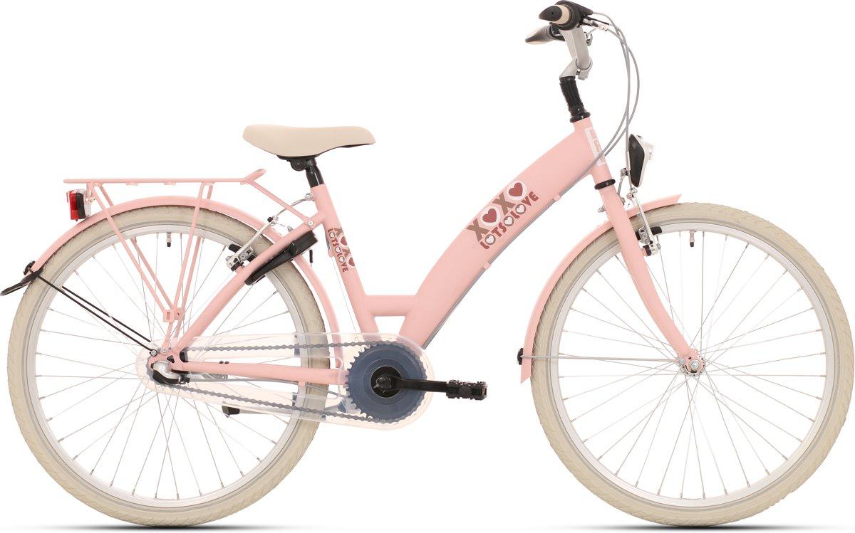 Kinderfiets Bike Fun Lots of Love meisjes 26 inch nexus 3 roze
