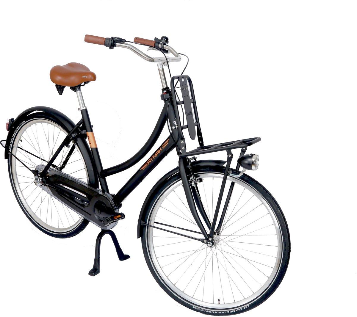 Aynak Elly Transportfiets - Fiets - Vrouwen - Zwart - 53 cm