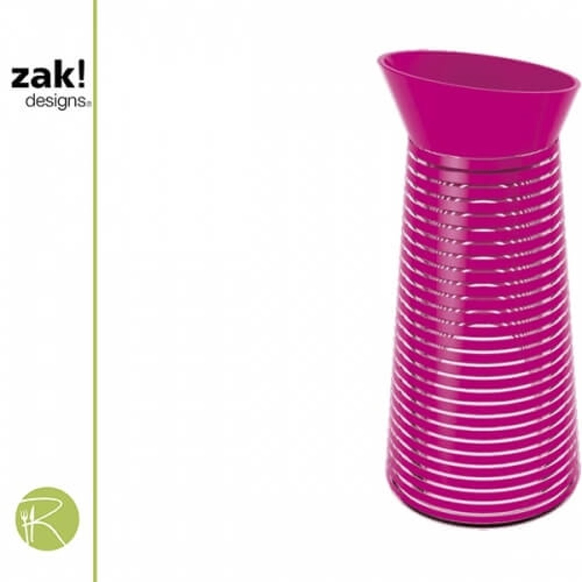 Zak!Designs Swirl - Waterkaraf - 1 liter - Fuchsia