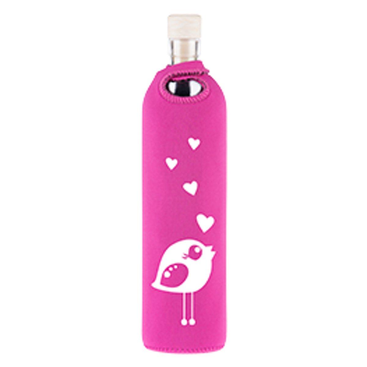 Flaska glazen waterfles Girly Birdy 0,5l