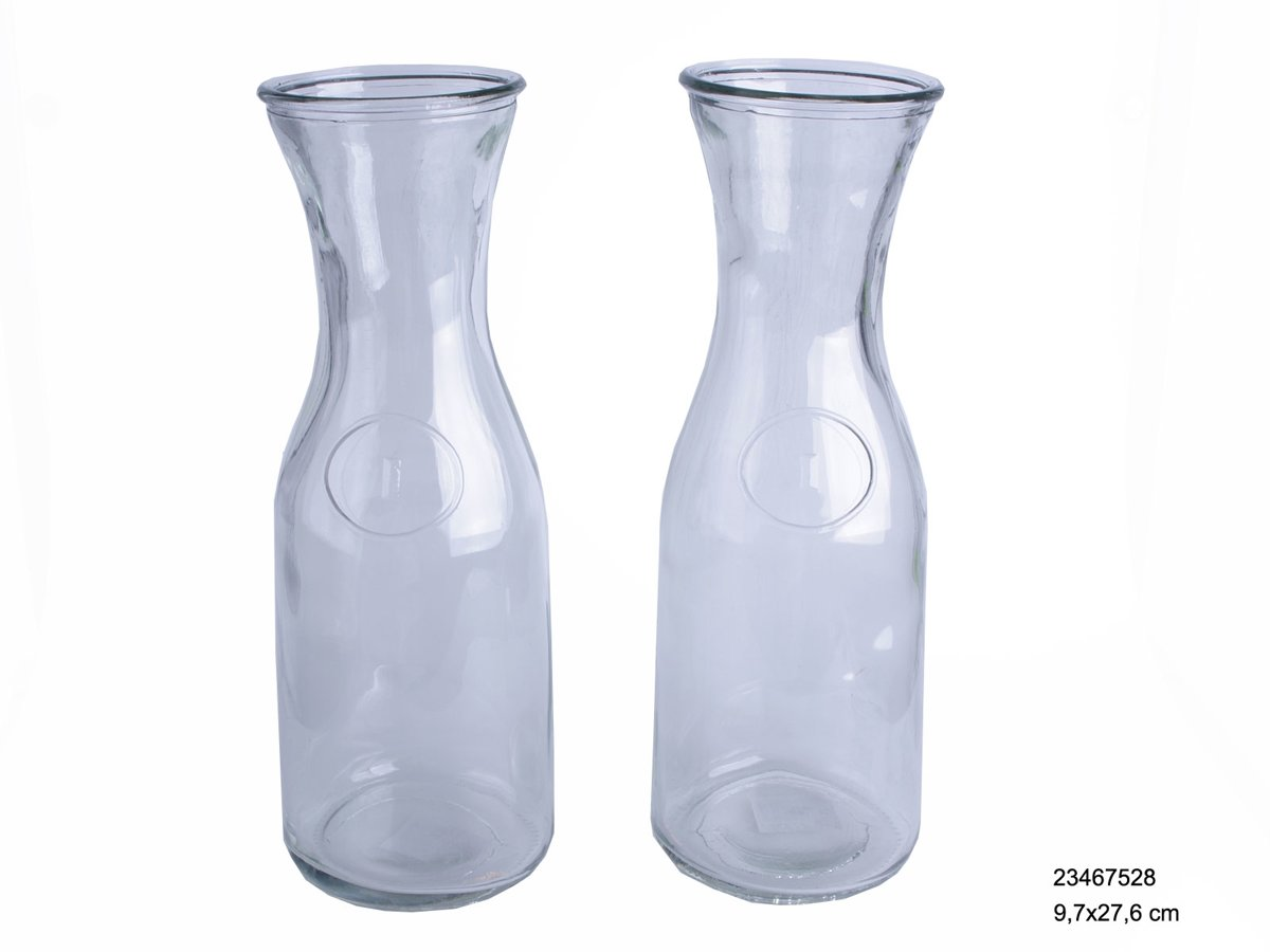 Waterfles 1L glas ?9,7x27,6cm