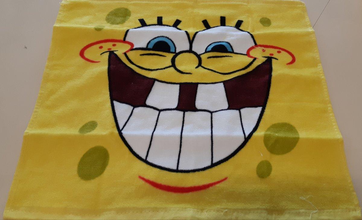 Sponge Bob Handdoek - Geel - 40x41 Cm