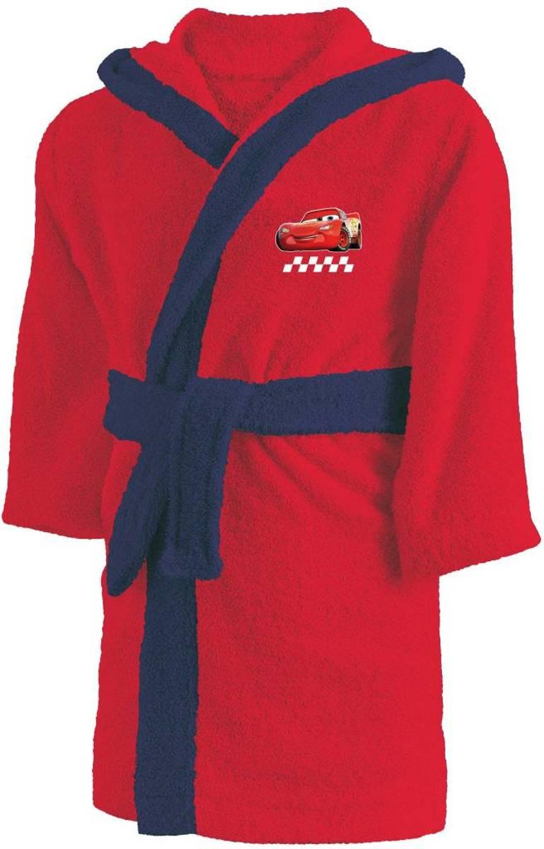 Disney piston cup - badjas met capuchon - 6 / 8 jaar - rood