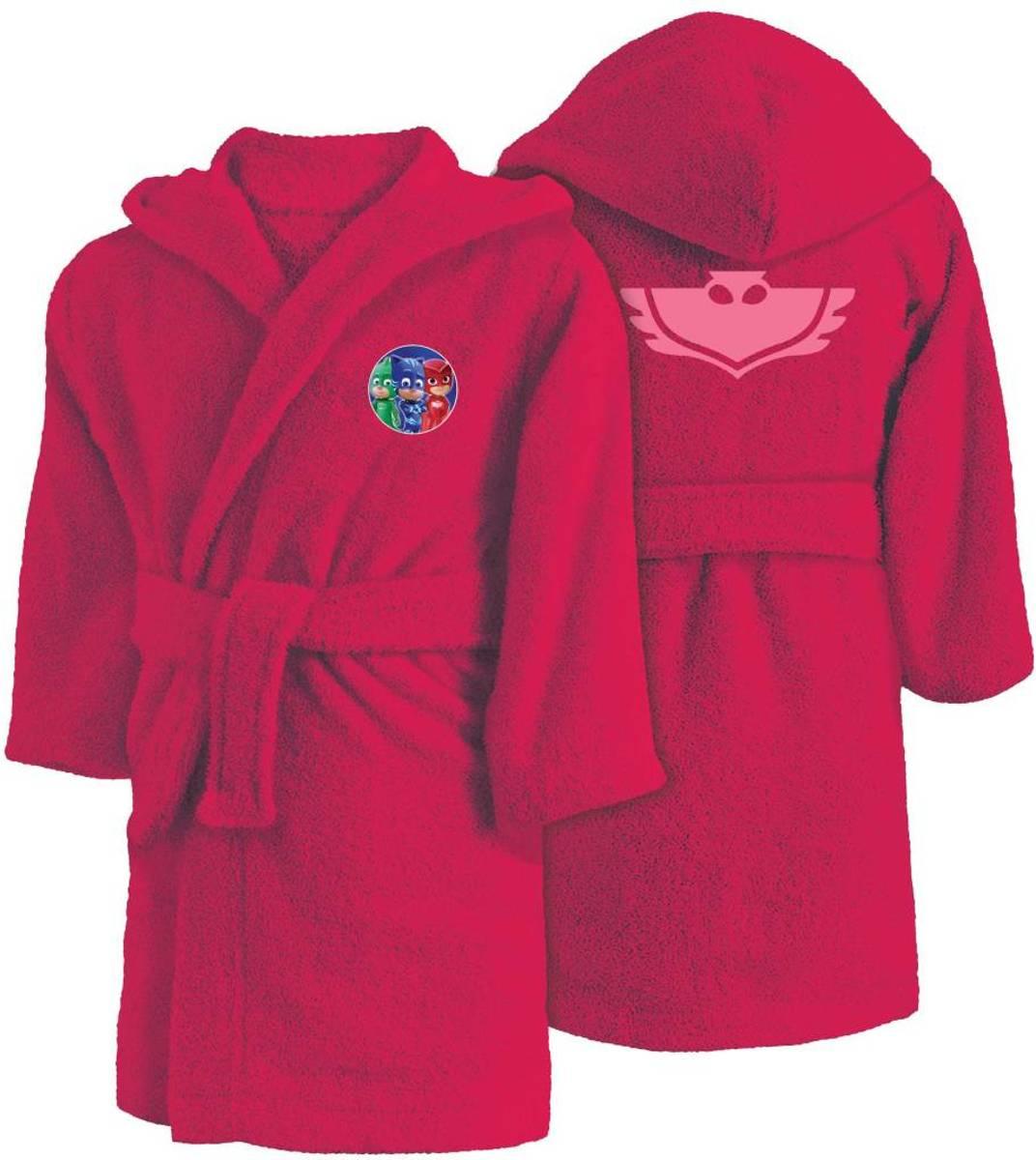 Pj masks owlette - badjas met capuchon - 6 / 8 jaar - roze