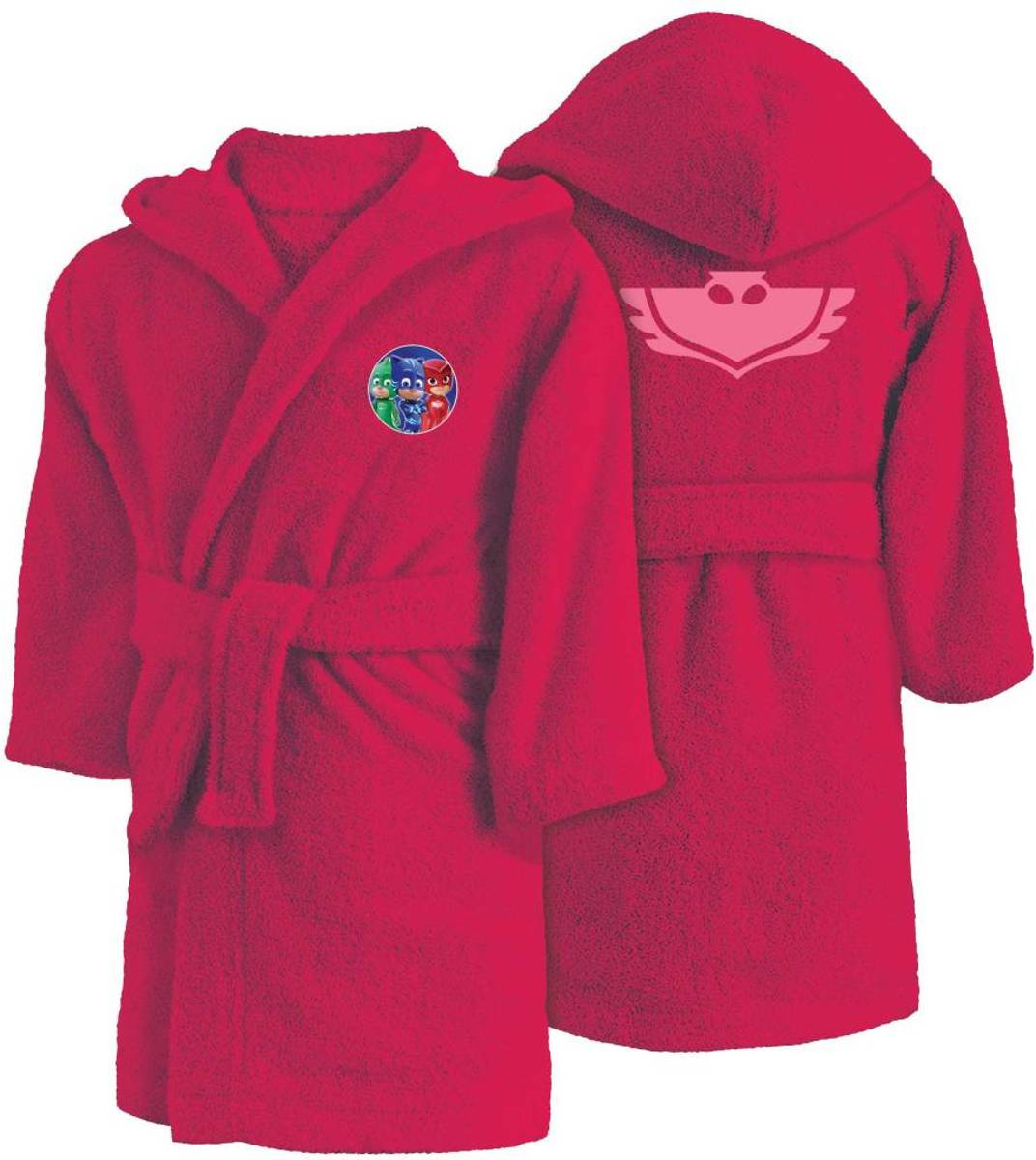 Pj masks owlette - badjas met capuchon - 2 / 4 jaar - roze