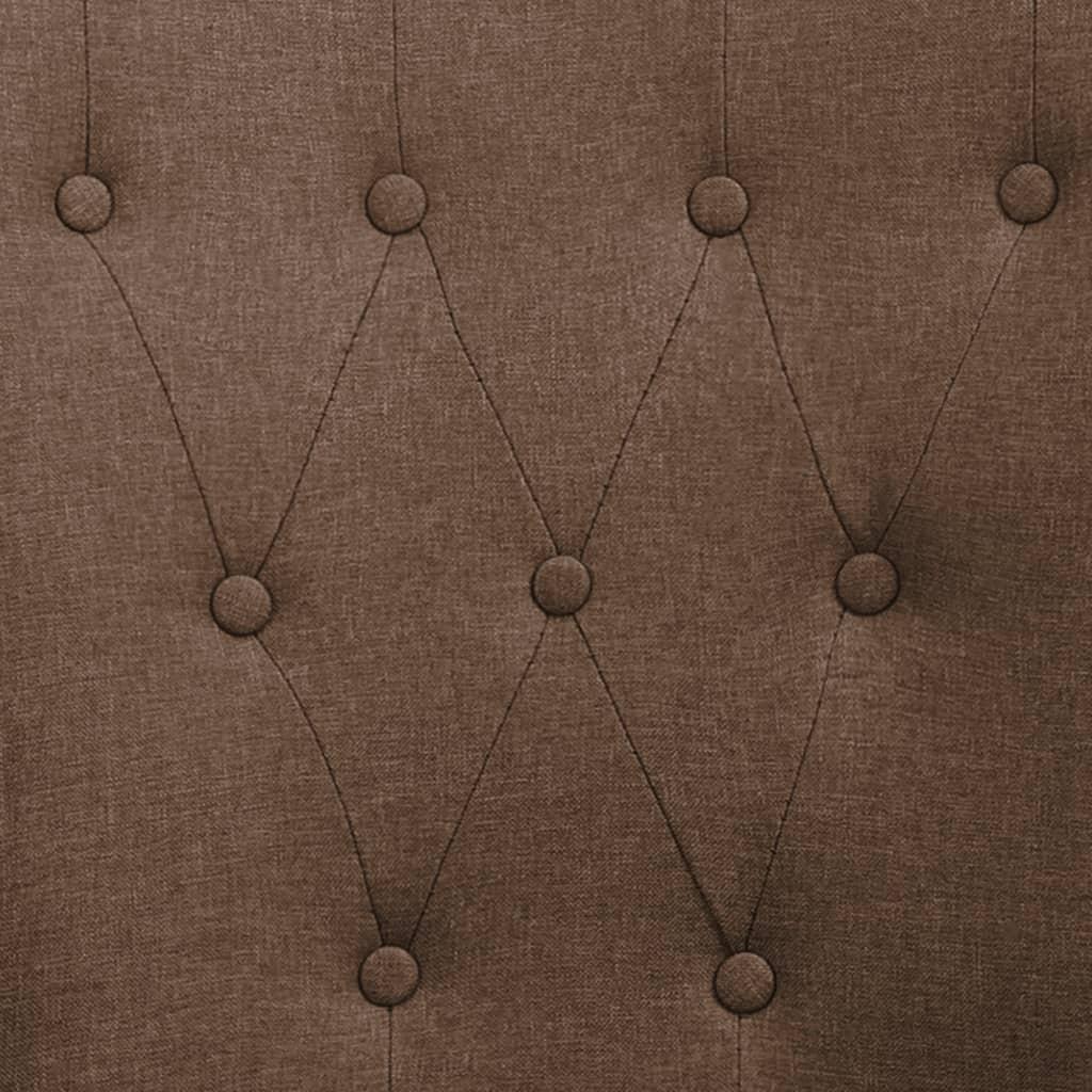 vidaXL Eetkamerstoel met armleuningen 4 st stof bruin