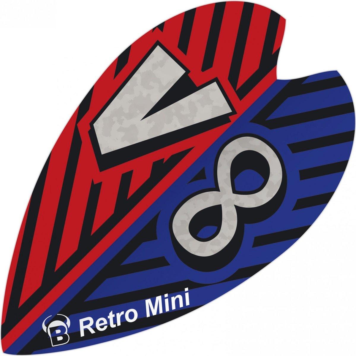 Bull?s Flights Mini Retro & Retro 100 Micron Blauw/rood