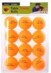 Angel Sports tafeltennisballen 3 ster - oranje - 12 stuks