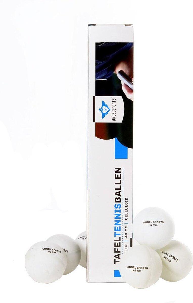 Angel Sports Tafeltennisballen Kunststof 40 Mm Wit 6 Stuks