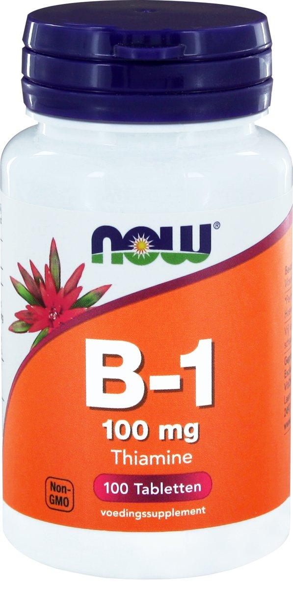 Now Vitamine B1 100mg 100tabl