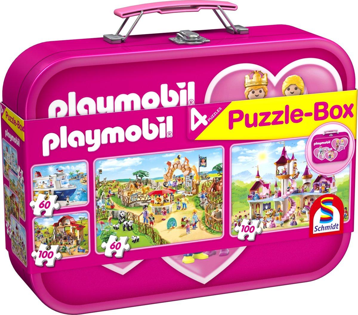 Playmobil, Puzzle-Box rose, 2x60, 2x100 stukjes Puzzel