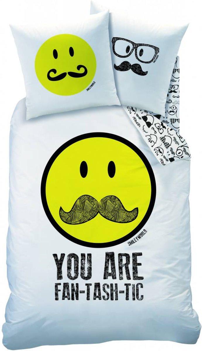 Dekbedovertrek Moustache Smiley-140x200/220