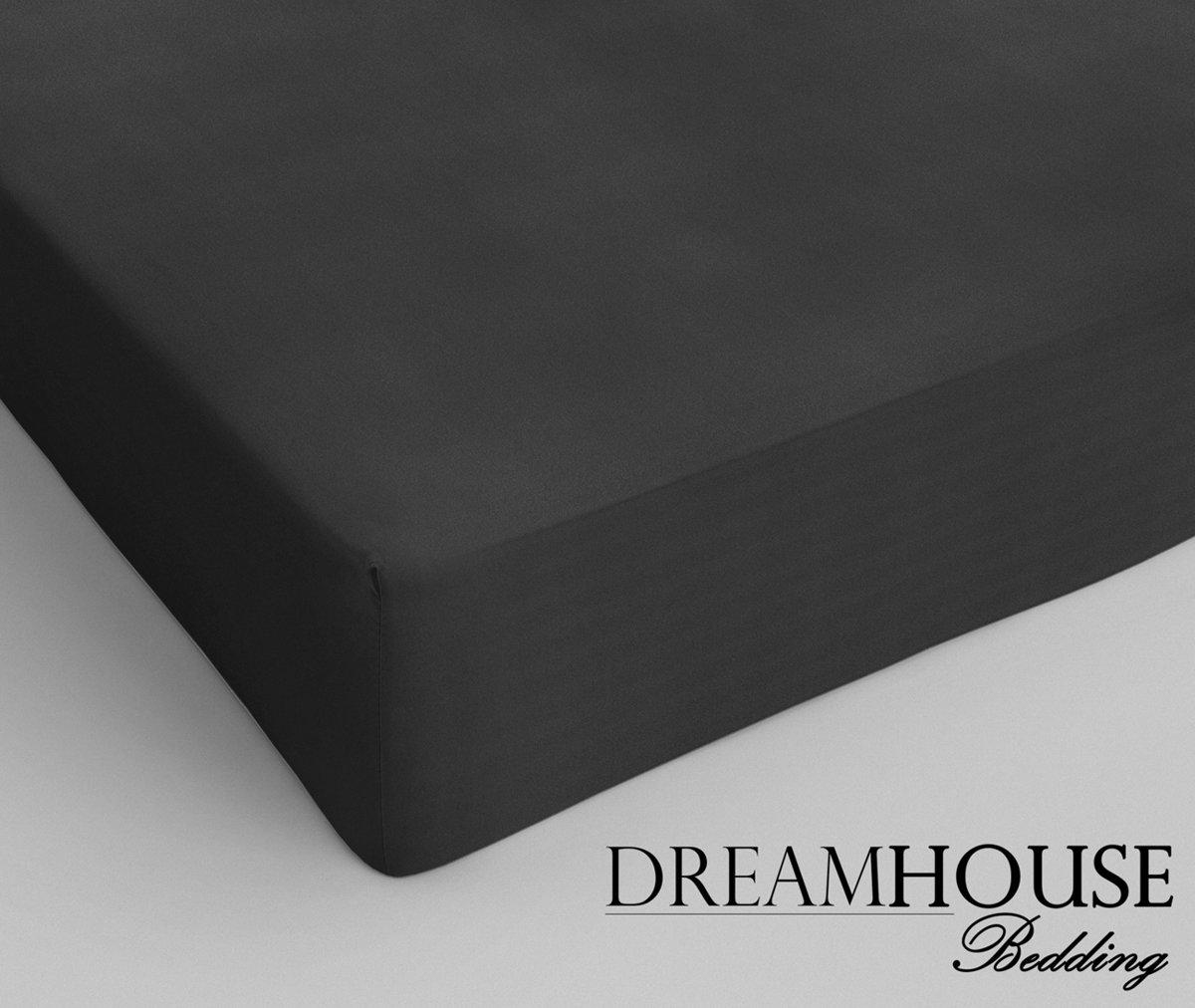 Dreamhouse bedding katoen hoeslaken anthracite - 2-persoons (200 cm) - grijs