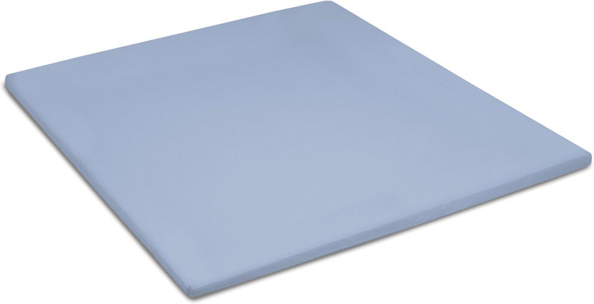 Cinderella basic percaline katoen topper hoeslaken - 100% percaline katoen - Lits-jumeaux (180x210 cm) - Blauw