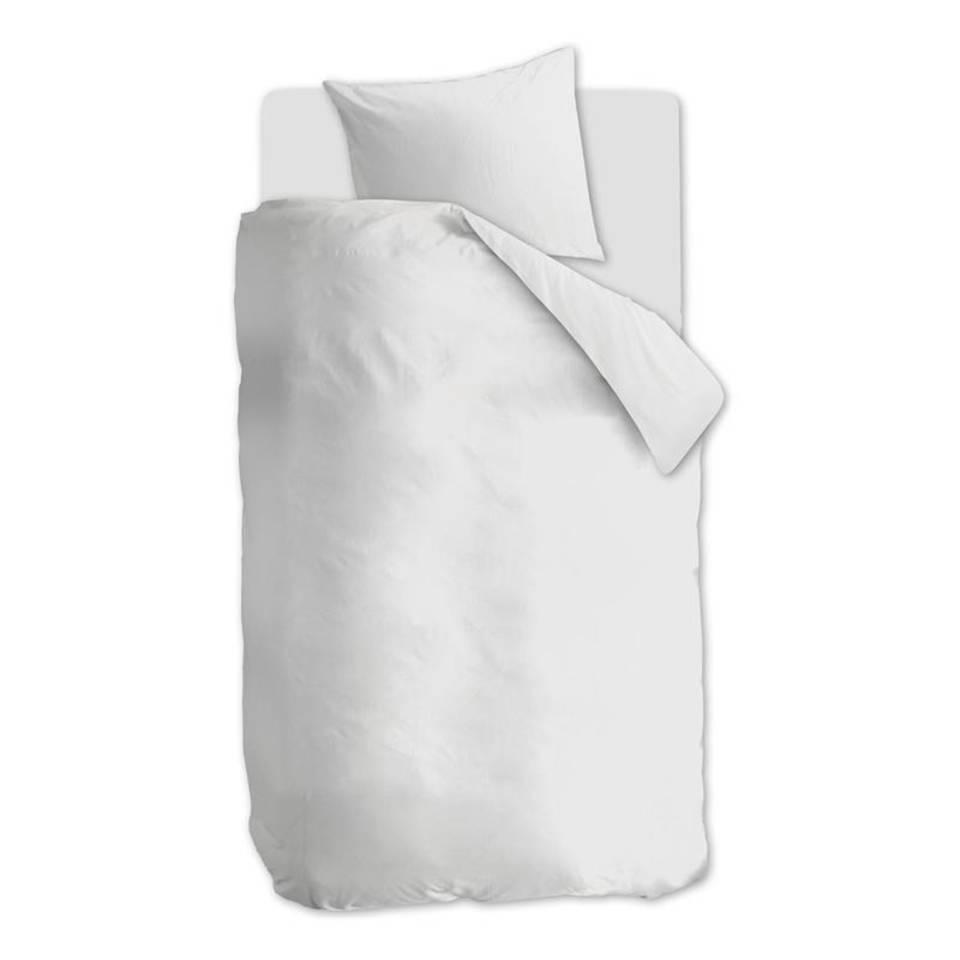 VTwonen Comfy dekbedovertrek - 100% gebreide katoen - 1-persoons (140x200/220 cm + 1 sloop) - White