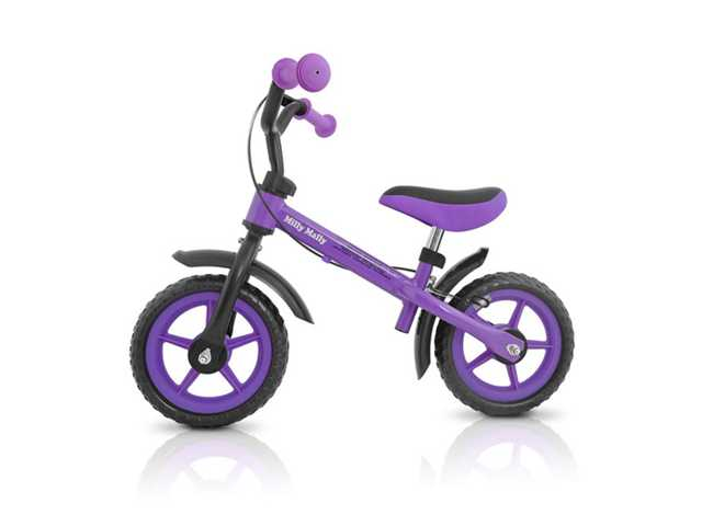 Milly Mally Milly Mally loopfiets Dragon paars met extra handrem