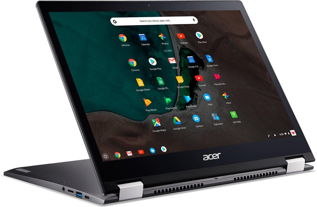 Acer Chromebook Spin 13 CP713-1WN-58CV Grijs 34,3 cm (13.5'') 2256 x 1504 Pixels Touchscreen Intel? 8ste generatie Core? i5 i5-8250U 8 GB LPDDR3-SDRAM 64 GB eMMC