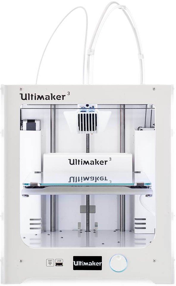 3D-printer Ultimaker 3 Dual nozzle-systeem (Dual Extruder)