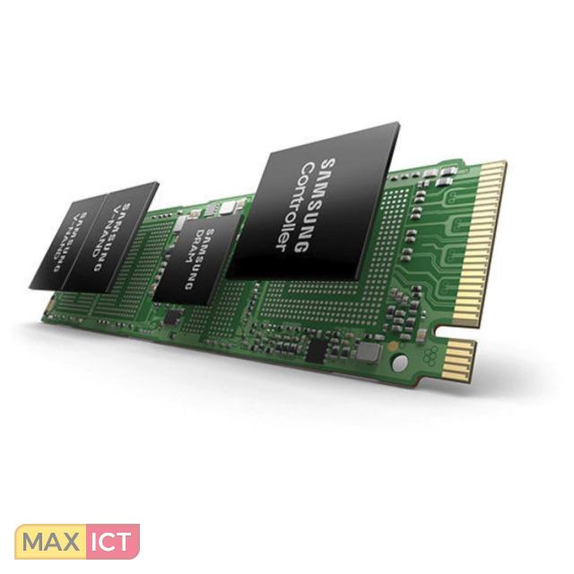 Samsung PM991. SSD capaciteit: 1000 GB, SSD-vormfactor: M.2, Leessnelheid: 2300 MB/s, Schrijfsnelheid: 1350 MB/s, Component voor: PC