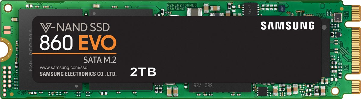 Samsung 860 EVO M.2 Interne SSD - 2TB