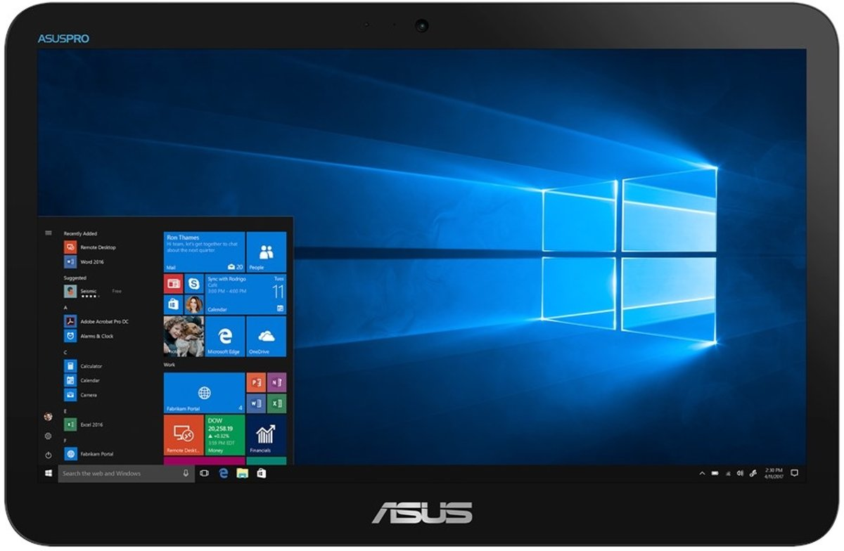 ASUS V161GA 39,6 cm (15.6'') 1366 x 768 Pixels Touchscreen 1,10 GHz Intel? Celeron? N4000 Zwart Alles-in-n-pc