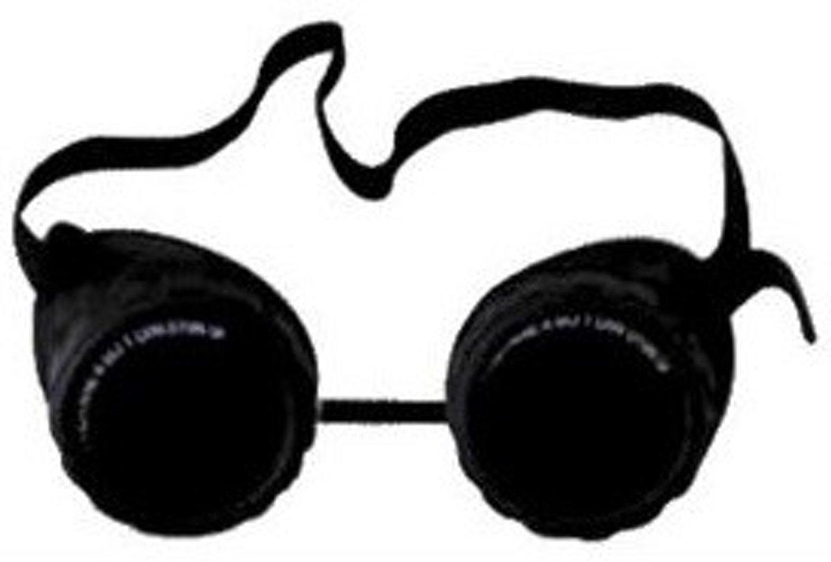 Gys veiligheidsbril, montuur zwart, glas gehardglas, glas zwart, krasvast