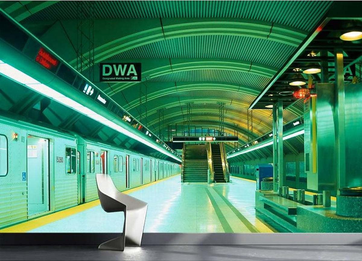 Metro - Fotobehang - 232 cm x 315 cm - Groen