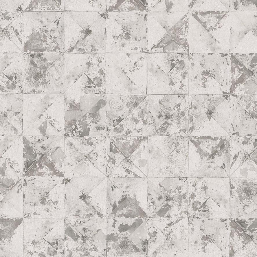 DUTCH WALLCOVERINGS Behang vierkant/driehoek beige 42501-20