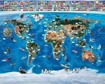 Map of the World behang - 12 delen