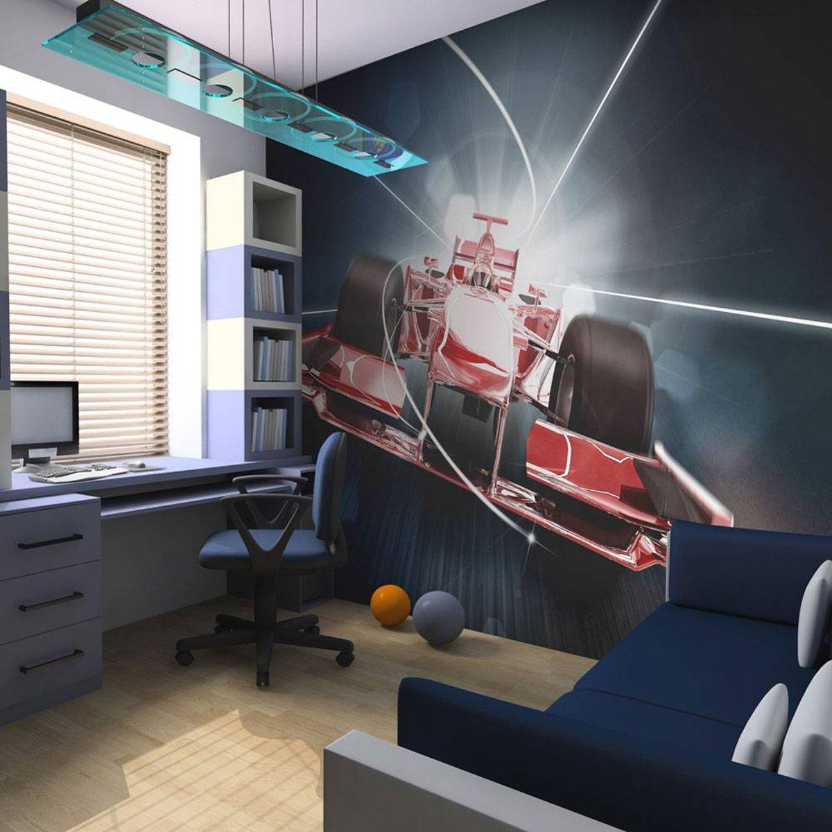 Fotobehang - Snelheid en dynamiek van de Formule 1 - 250x193
