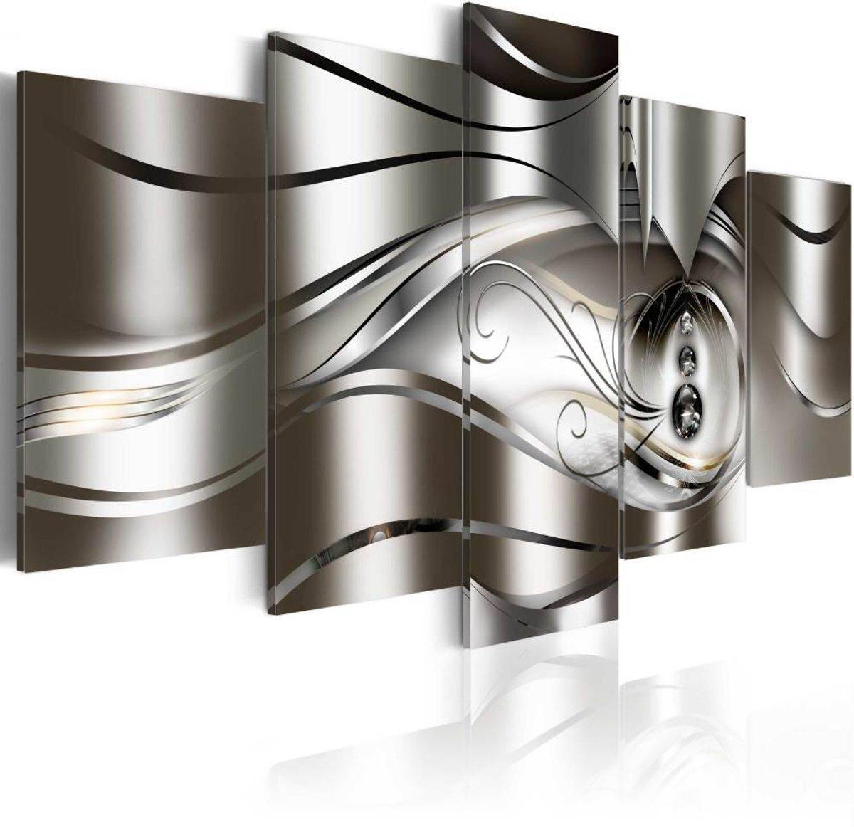 Schilderij - Diamond drops - 100x50