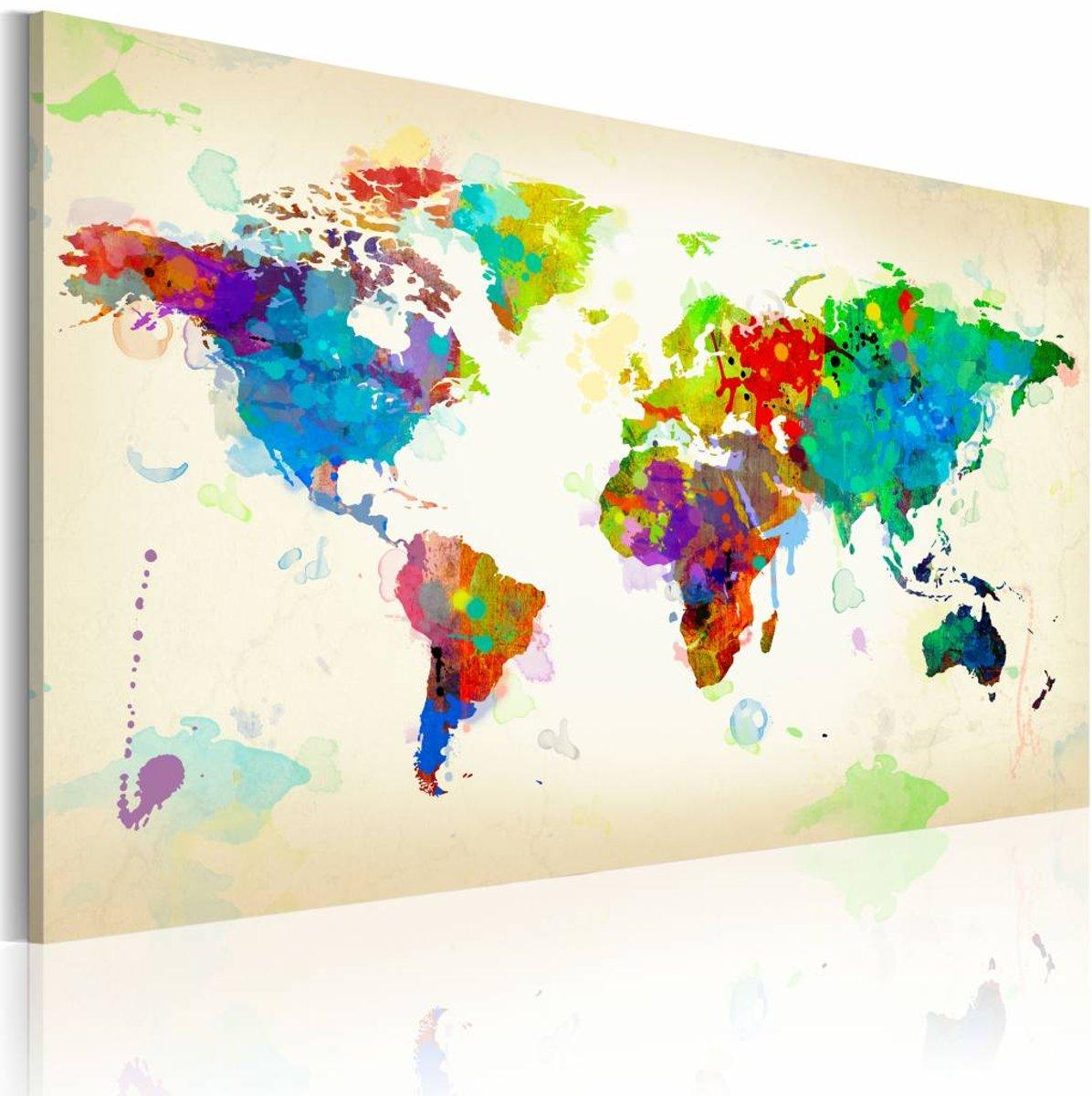 Schilderij - All colors of the World - 90x60