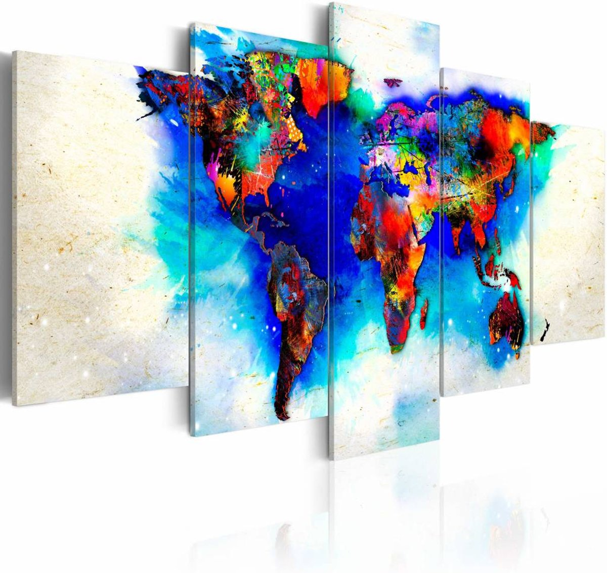 Schilderij - All colors of the world - 200x100